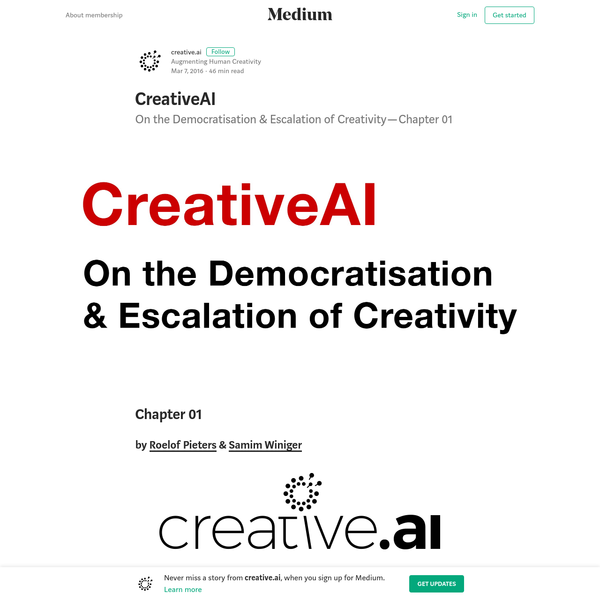 CreativeAI - creative.ai - Medium