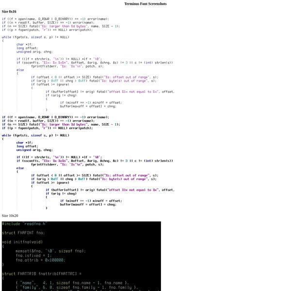 Are na / bitmap fonts
