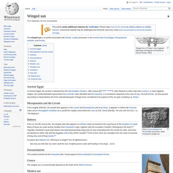 Winged sun - Wikipedia