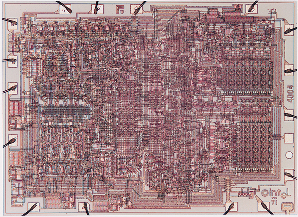 Diagram of the Intel 4004 Chip