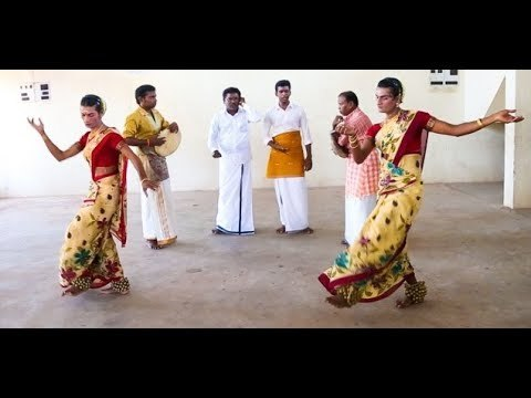 Koothu (Tamil: கூத்து), and alternatively spelt as kuttu, means dance or performance in Tamil; it is a folk art originated from the early Tamil country.[1][2] But more precisely Koothu refers to either Terukuttu (Tamil:தெருக்கூத்து) or Kattaikkuttu.