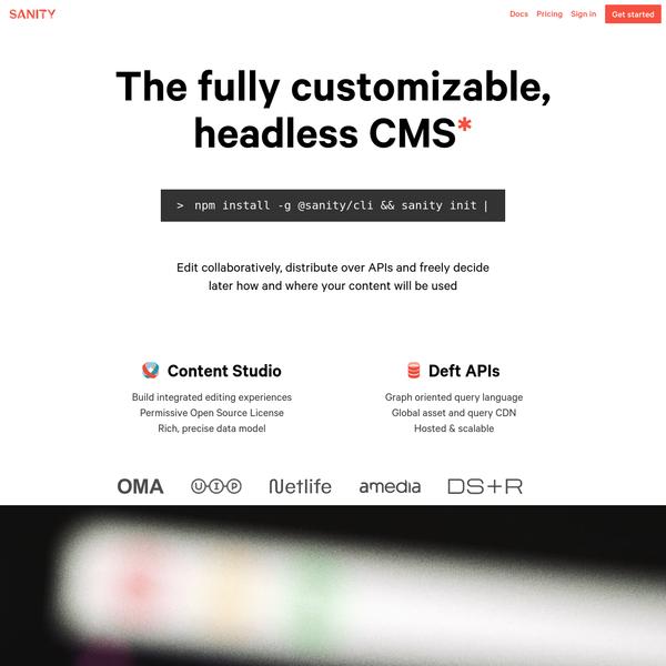 Sanity - The fully customizable, headless CMS