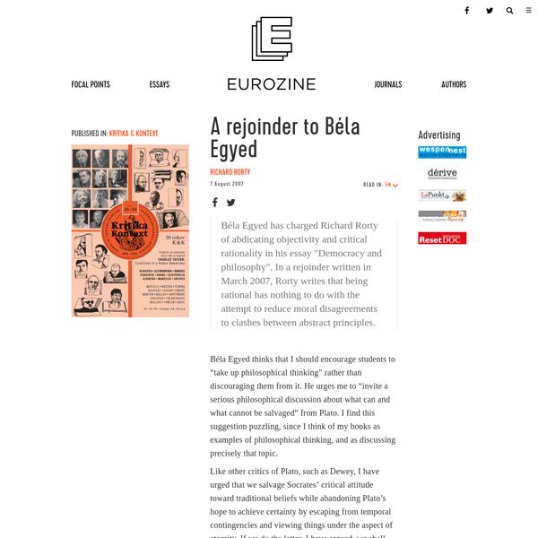 A rejoinder to Béla Egyed