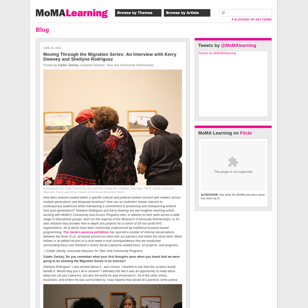 MoMA | Moving Through the Migration Series: An Interview with Kerry Downey and Shellyne Rodriguez