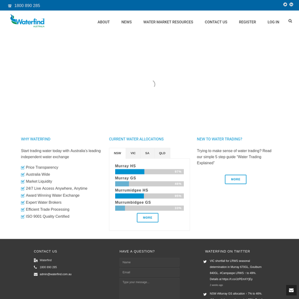 Waterfind Australia   Water Trading Made Easy   Temporary, Permanent, Forward Water