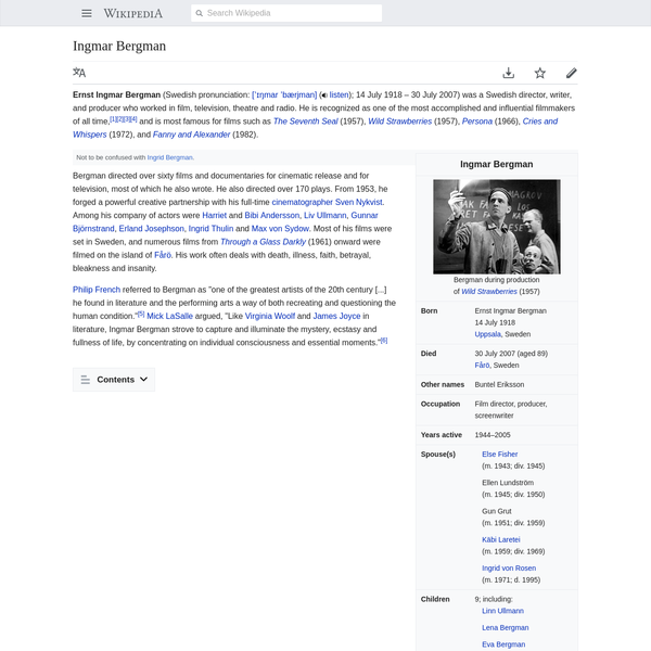 Ingmar Bergman - Wikipedia