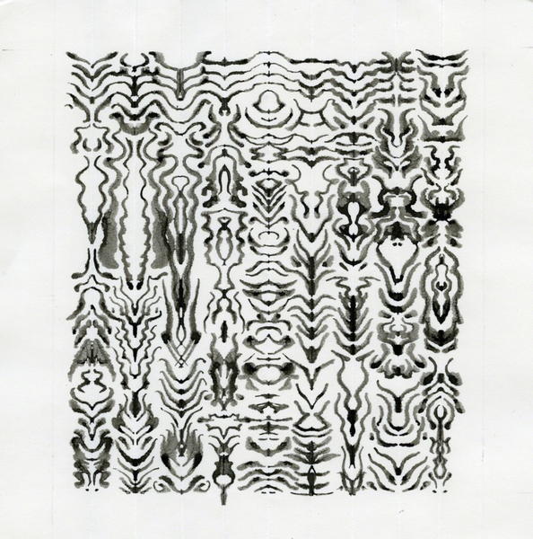 Bruce Conner - Untitled Inkblot Drawing (1423) (2003)
