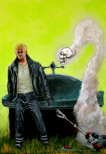 Dead Age Comic cover, Gouache, 2007
