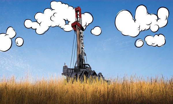 Fracking Illustration for UF, Digital, 2013
