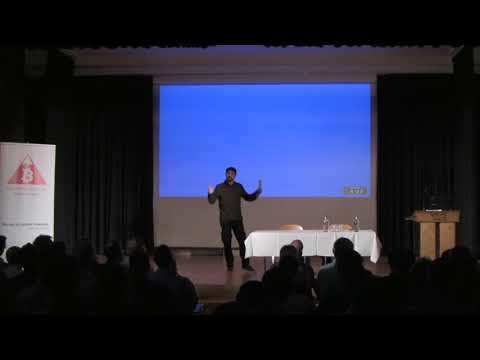 Amir Taaki presents in the Volkshaus in Zurich October 2017