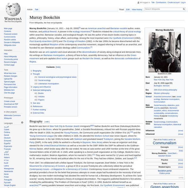 Murray Bookchin - Wikipedia