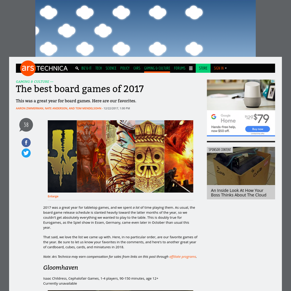 The best board games of 2017