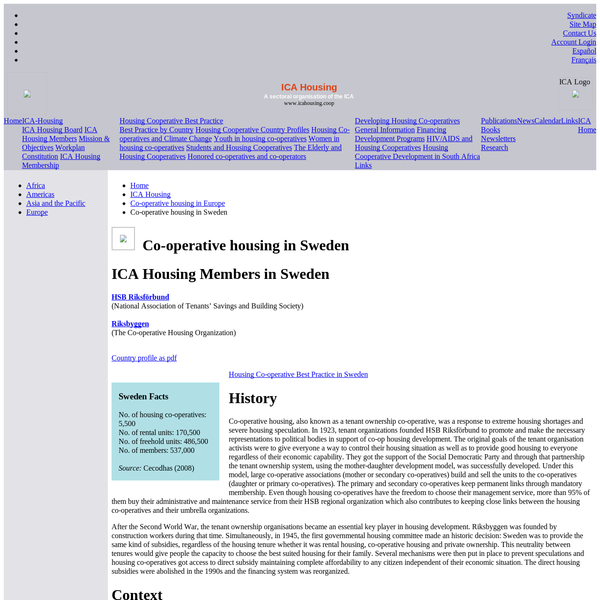 Co-operative housing in Sweden