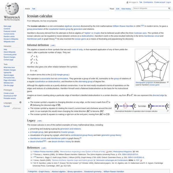 Icosian calculus - Wikipedia