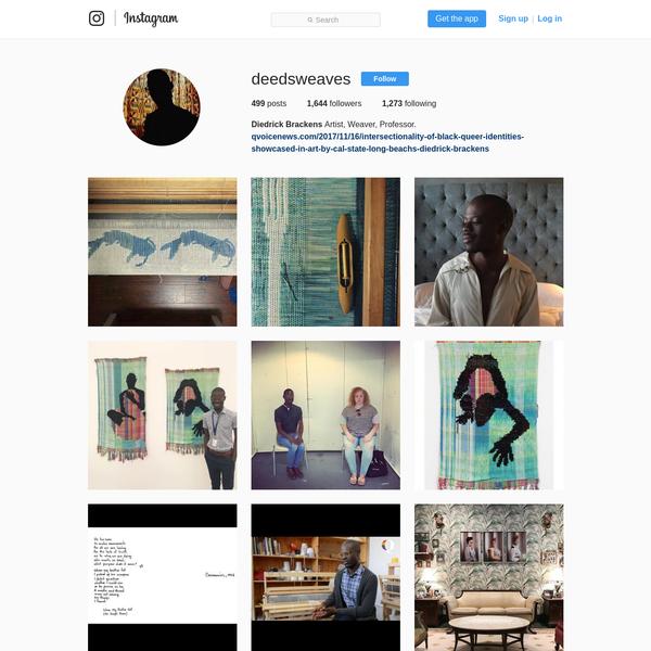 1,644 Followers, 1,273 Following, 499 Posts - See Instagram photos and videos from Diedrick Brackens (@deedsweaves)