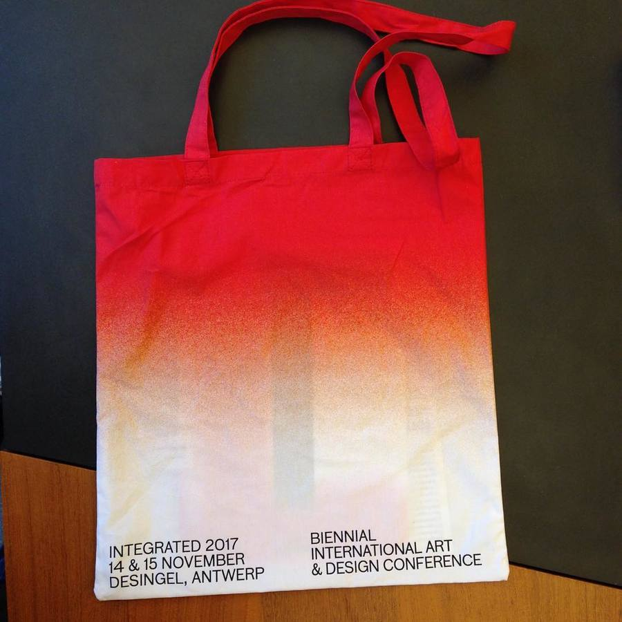 I'm not typically a bag person but this one is lovely @integratedconf /////// #integrated2017 #graphicdesign