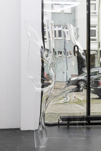 Aline Bouvy, Empathy III, 2015, Thermoformed Plexiglass, bronze eel casts