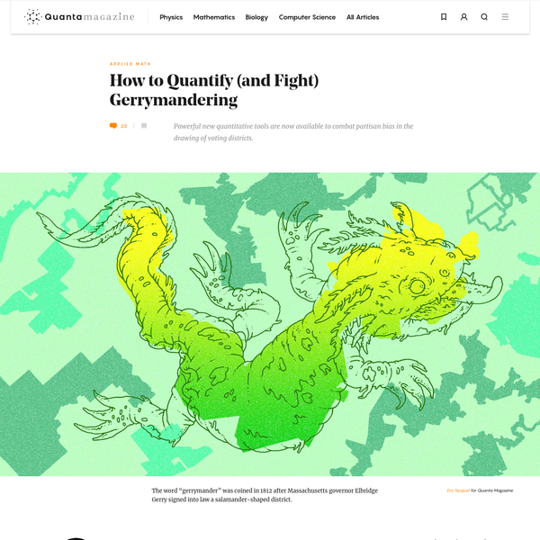The Mathematics Behind Gerrymandering   Quanta Magazine