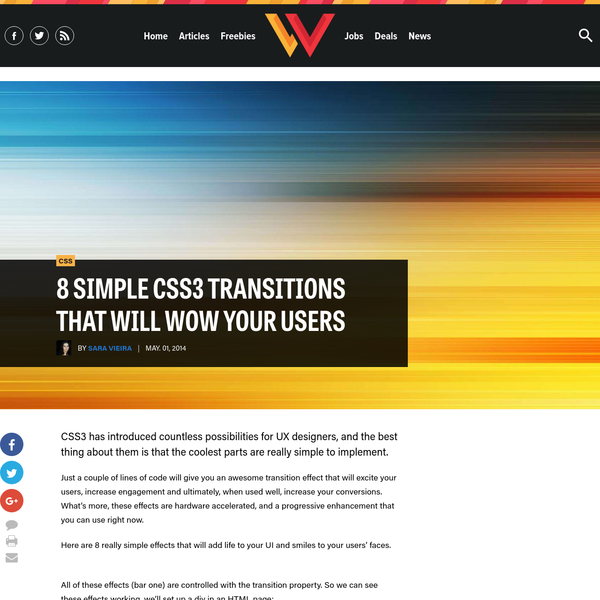8 simple CSS3 transitions that will wow your users | Webdesigner Depot