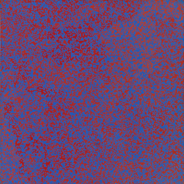 François Morellet - Random Distribution of 40,000 Squares Using the Odd and Even Numbers of a Telephone Directory (1960)