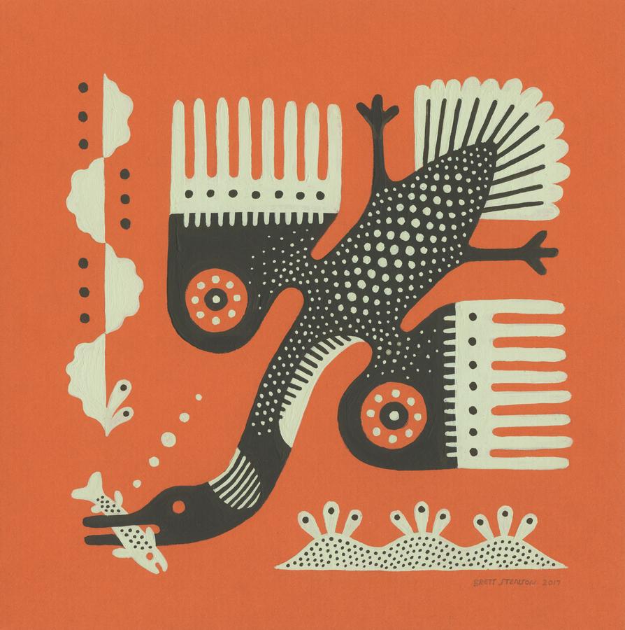 Loon Painting by Brett Stenson