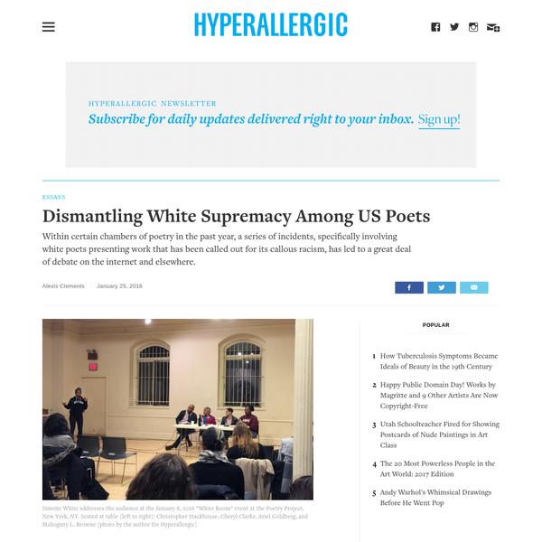 Dismantling White Supremacy Among US Poets
