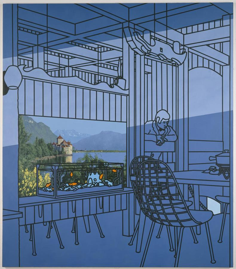 Patrick Caulfield, After Lunch, 1975, Acrylic on Canvas