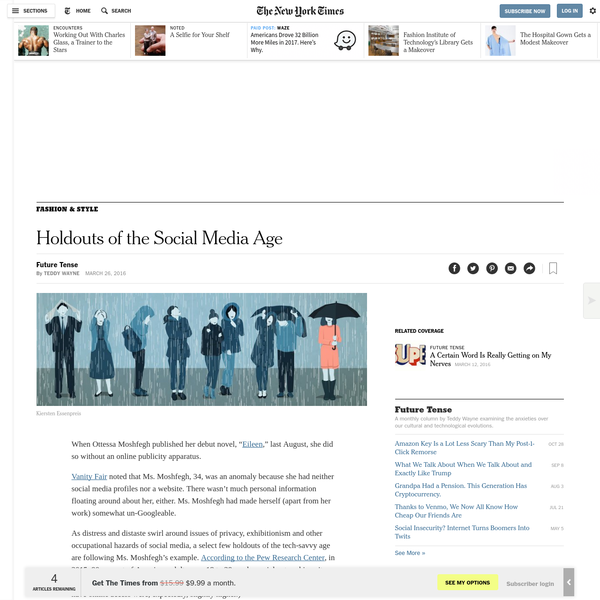 Holdouts of the Social Media Age