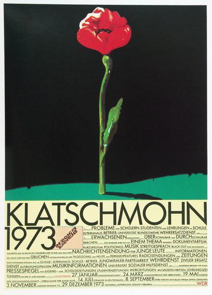 Heinz Edelmann - Klatschmohn 1973 Poster (1973)