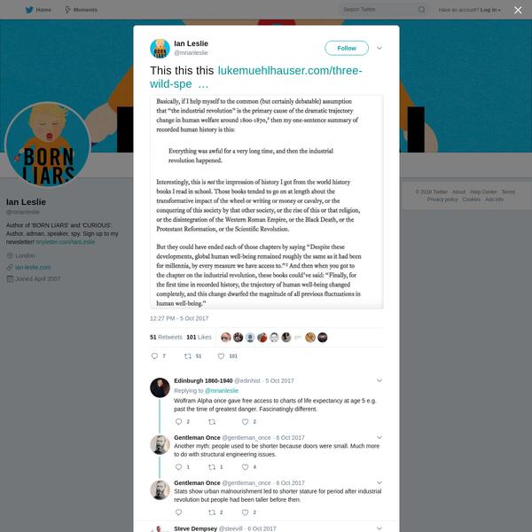 Ian Leslie on Twitter