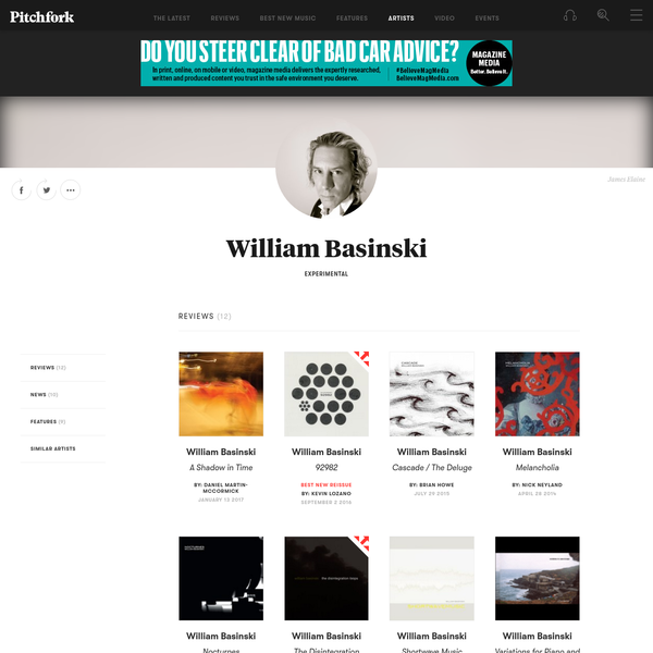William Basinski - Albums, Songs, and News