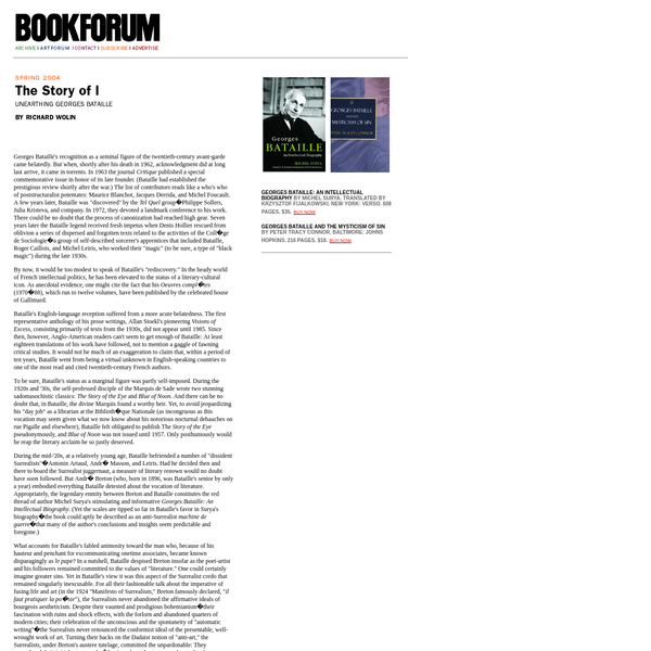 A sister publication of Artforum, Bookforum brings incisive reviews of the latest titles, author interviews, and commentary about current and coming trends and ideas being debated by some of the most interesting writers of our time.