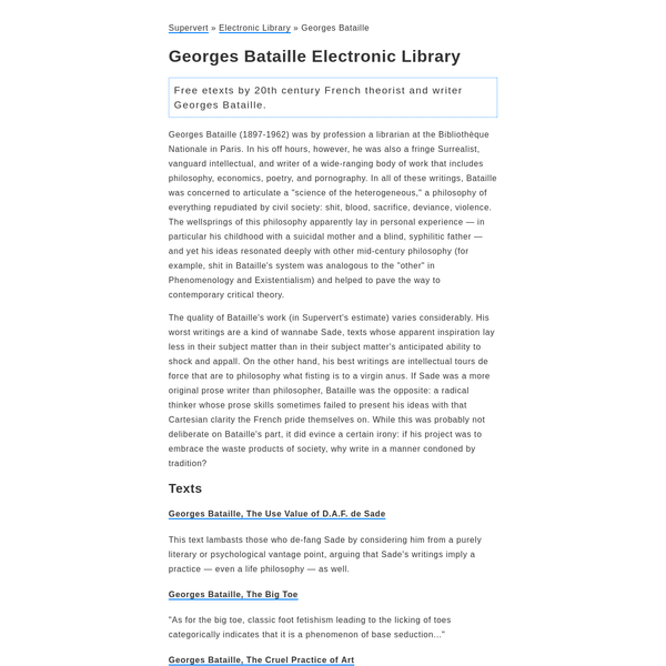 Georges Bataille Electronic Library