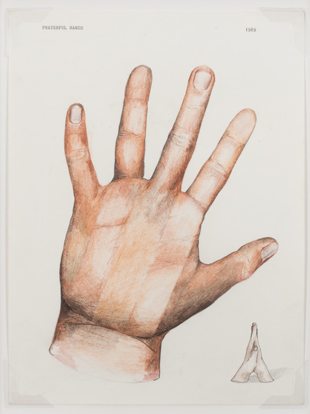 2013.06 Stuart Sherman : Proposed Sculptural Projects..., Prayerful Hands, 1989