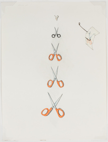 2013.06 Stuart Sherman : Proposed Sculptural Projects..., scissors, c. 1985-1989