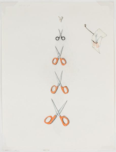 2013.06 Stuart Sherman : Proposed Sculptural Projects..., scissors, c. 1985-1989