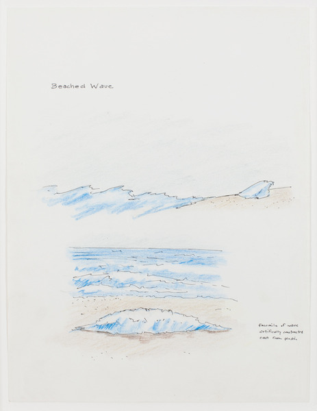 2013.06 Stuart Sherman : Proposed Sculptural Projects..., Beached Wave, c. 1985-1989