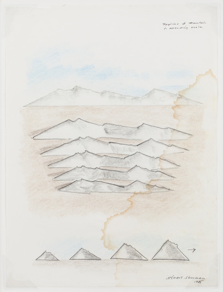 2013.06 Stuart Sherman : Proposed Sculptural Projects..., Replicas of Mountains in Ascending Scale, 1985