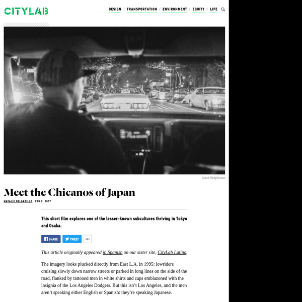This short film explores one of the lesser-known subcultures thriving in Tokyo and Osaka. This article originally appeared in Spanish on our sister site, CityLab Latino. The imagery looks plucked directly from East L.A.