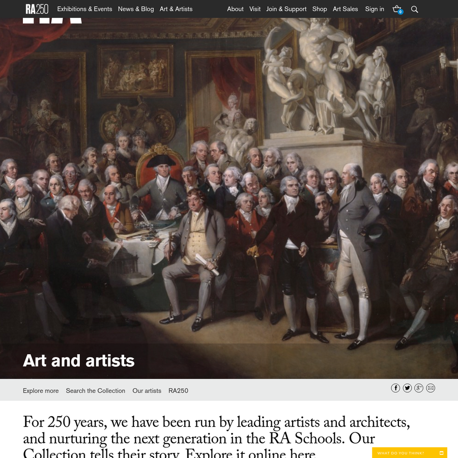For 250 years, we have been run by leading artists and architects, and nurturing the next generation in the RA Schools. Our Collection tells their story. Explore it online here.