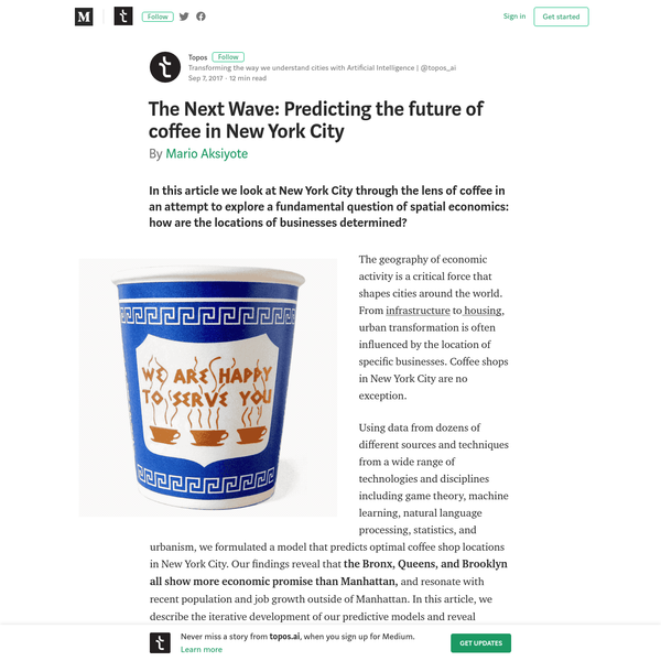 The Next Wave: Predicting the future of coffee in New York City