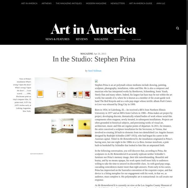 In the Studio: Stephen Prina