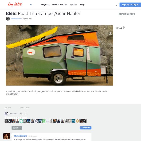 Road Trip Camper/Gear Hauler   Local Motors