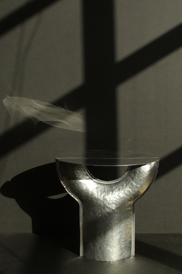 Hammered Aluminum objects by Sigve Knutson