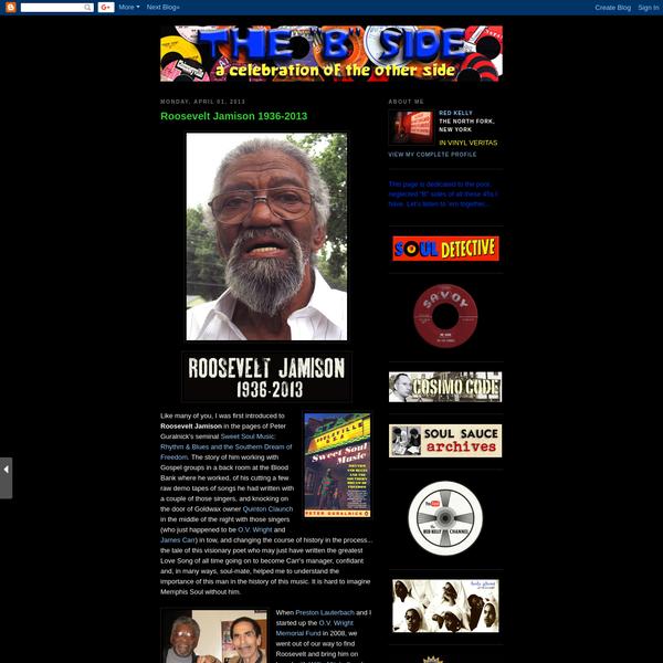 "the ""B"" side: Roosevelt Jamison 1936-2013"