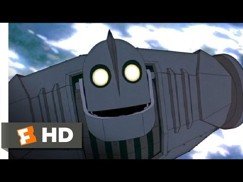 The Iron Giant movie clips: http://j.mp/1J9fEyF BUY THE MOVIE: http://j.mp/Mgr2h5 Don't miss the HOTTEST NEW TRAILERS: http://bit.ly/1u2y6pr CLIP DESCRIPTION: The Giant (Vin Diesel) sacrifices himself to save everyone else. FILM DESCRIPTION: A boy's best friend is his robot in this animated adventure from Brad Bird, best known for his TV work on such series as The Simpsons, King of the Hill, and The Critic.
