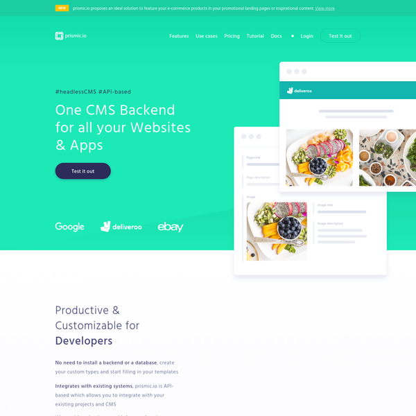 prismic.io | One CMS backend for all your Websites & Apps