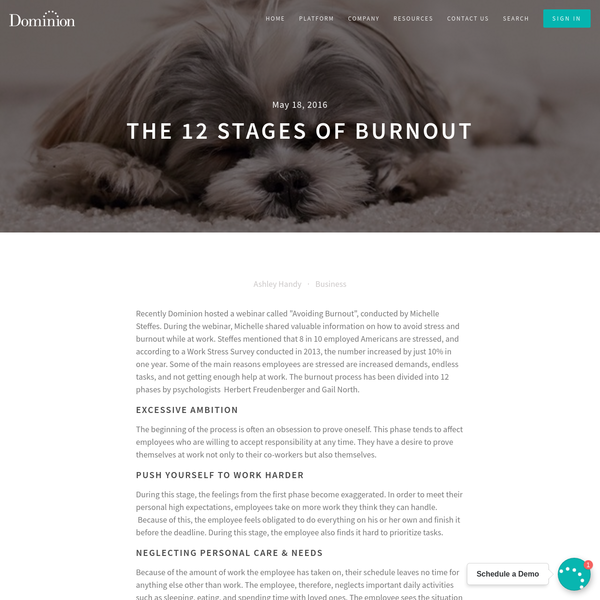 The 12 Stages of Burnout