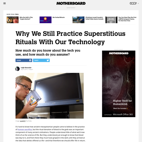 Why We Still Practice Superstitious Rituals With Our Technology