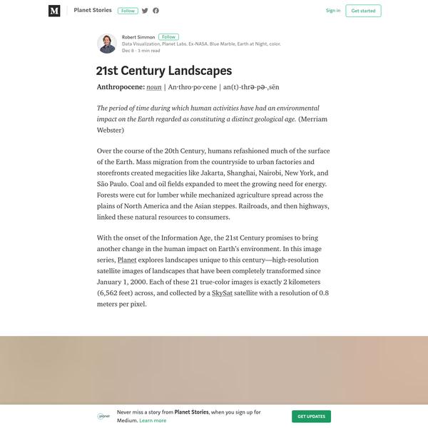 21st Century Landscapes - Planet Stories - Medium
